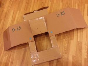 kartoninis lektuvas D-29