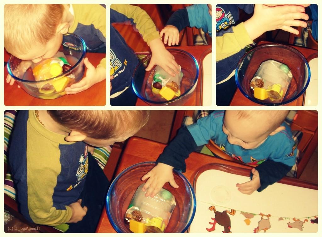 užšaldyti žaisliukai